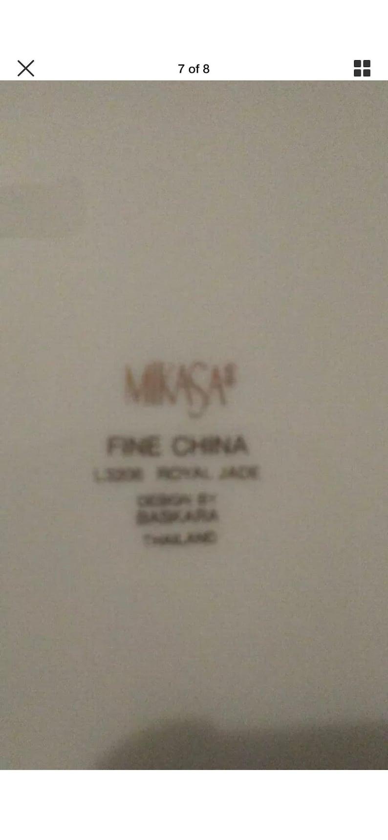 Mikasa Fine China L3206 Royal Jade Set Of 7 Salad Plates Design By Baskara 8 14