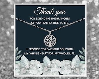 BESTSELLER Mother of the Groom Gift | Mother In Law Wedding Gift | Mother In Law Necklace | Gift for My Mother In Law | Tree Necklace