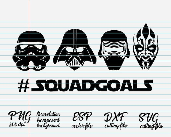Citaten Uit Star Wars : Squadgoals starwars star wars quotes svg citaat quote etsy