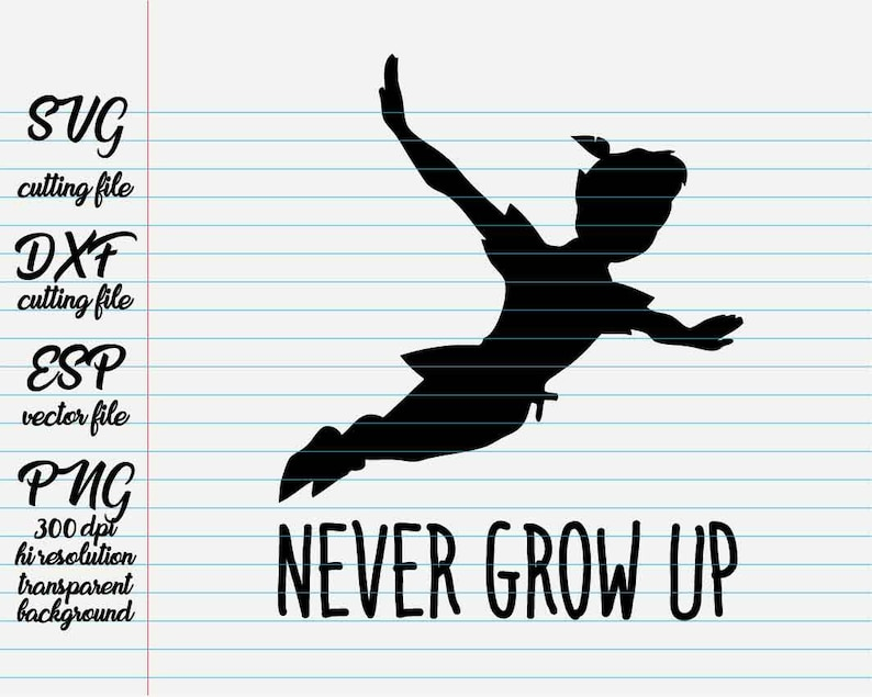 Peter Pan Never Grow Up Disney Quotes Quote Svg Quote Etsy