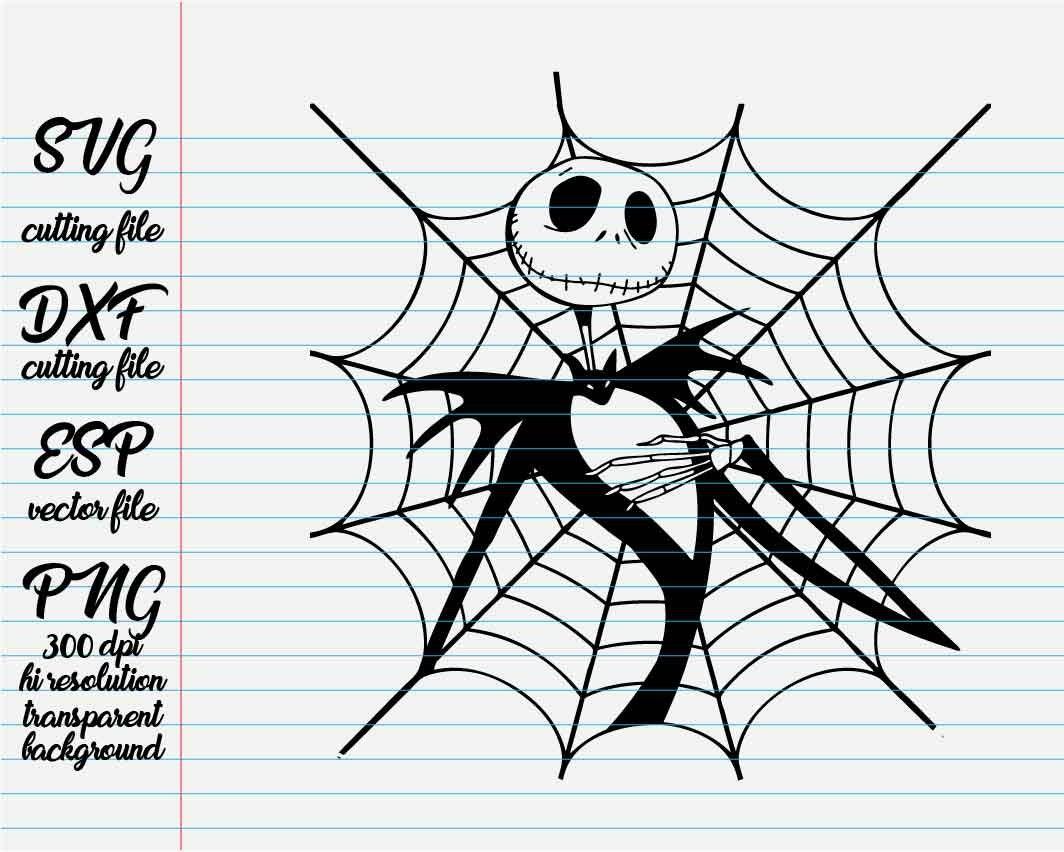 the nightmare before christmas Jack spider web / Disney | Etsy