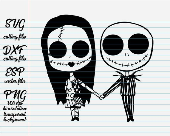 The Nightmare Before Christmas Jack And Sally/ Disney