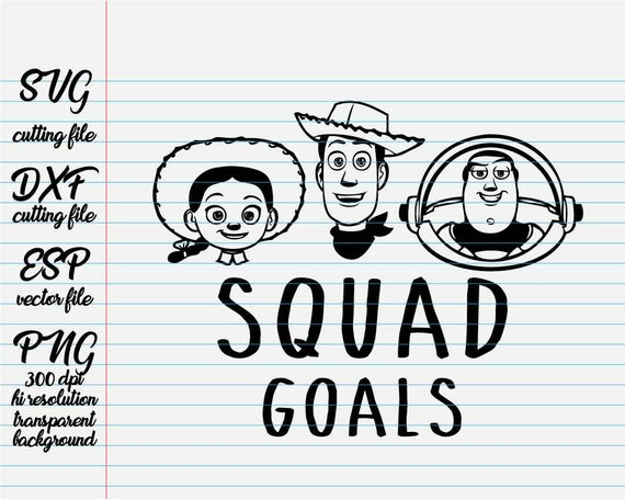 Squad Goals Woody Buzz And Jessie Toy Story Disney Quotes Etsy