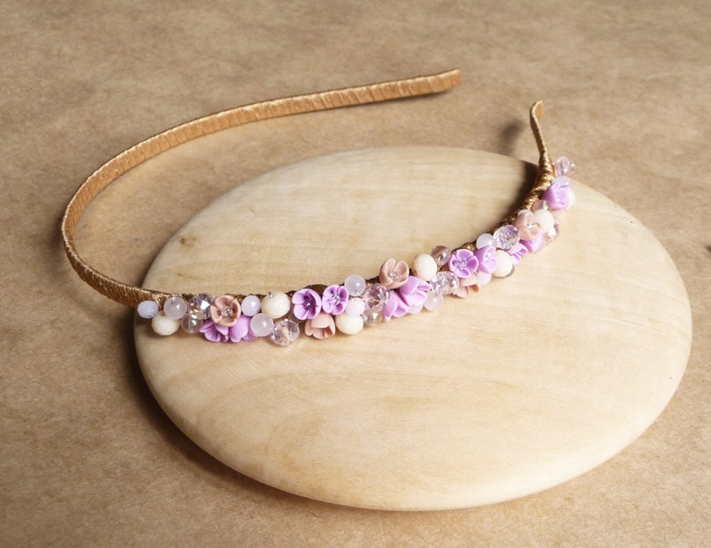 Ivory flower crown Flower girl bracelet Ivory bridal crown Flower girl wreath Bridal hair piece Bohemian headpiece College graduation