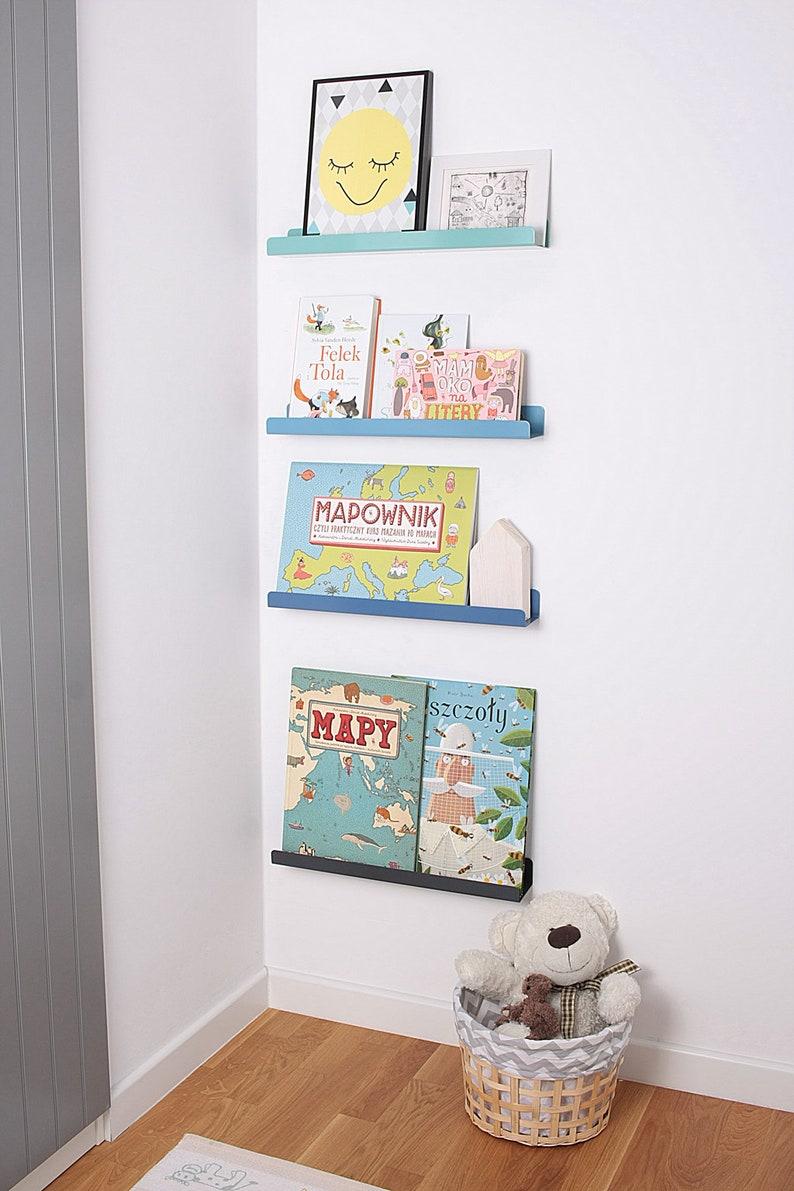 Półka Na Książki Plakaty Zabawki Grafitowa
