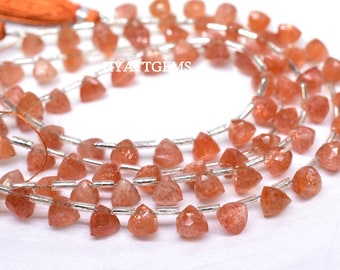 Natural sunstone heart faceted beads,sunstone,sunstone beads,faceted sunstone,natural sunstone,prices are per line