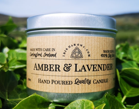 Amber & Lavender - Handmade Soy Candle