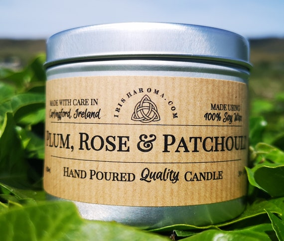Plum, Rose & Patchouli - Handmade Soy Candle