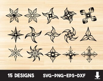 Metallic Silver Wooden Wood Shuriken Ninja Inspired Cosplay Costume Prop Throwing Star Wall Decor