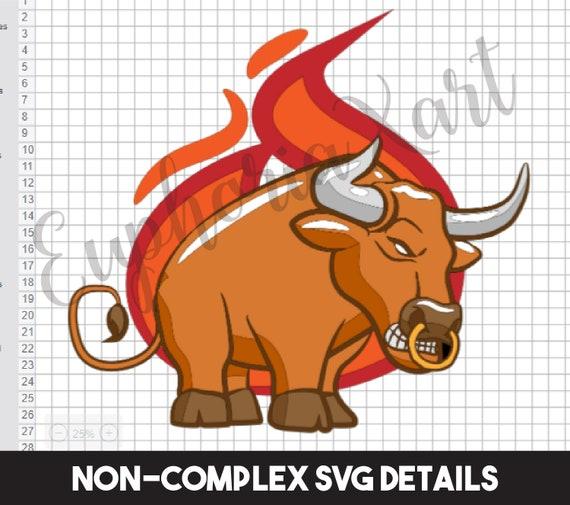 Bull Svg Bull Cricut Bull Clipart Bull Cartoon Bull Moose Etsy