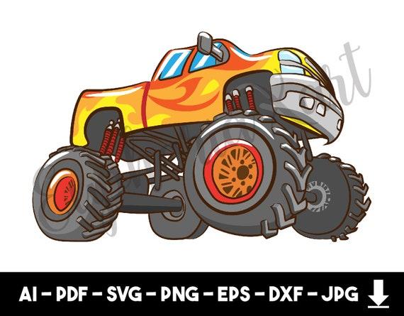 Monster Truck Svg Monster Truck Clipart Monster Truck Etsy
