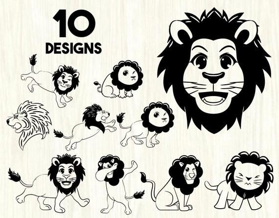 Lion Bundle Svglions Svglion Svglion Clipartlion Etsy