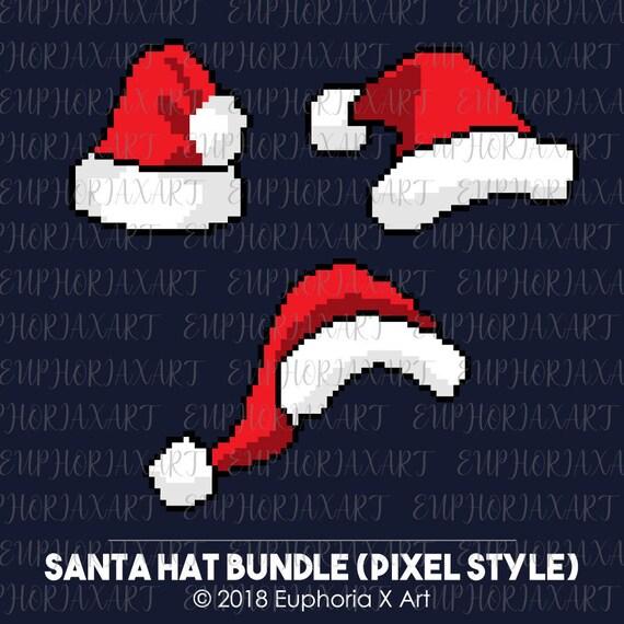Chapeau De Père Noël Svg Clipart De Santa Hat Pixel Art Svg Lot De Santa Hat Svg