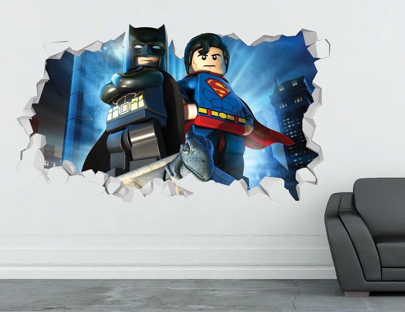 Robin 3D Smashed Sticker Art Decor Kids Vinyl Mural Custom Gift Batman Wall Decal