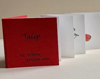 Handmade artists' book, Tulip