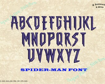 Superhero font   Etsy