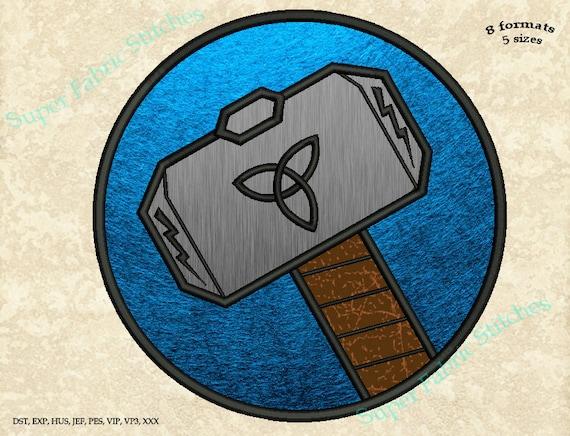 Thor Logo Applique Embroidery Designs Thor Superhero   Etsy