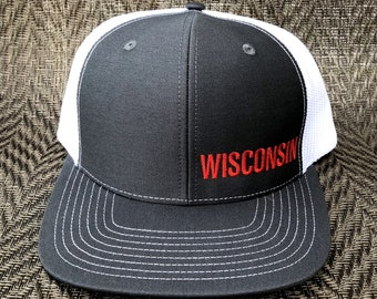 7c8830f656a052 Wisconsin Badger Color Charcoal and White Hat
