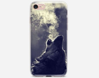 753ab3b442c9 Coque Animal Wolf Hipster Soft Clear TPU Silicone Case For iPhone Xs Xr Max  7 8 6 6S Plus 5S SE 5 Cover For iPod Touch 5 6 Case.