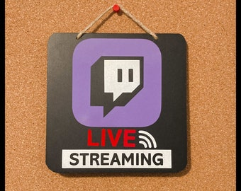 Live Streaming Reflective Door Sign | Gaming | Twitch