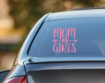 Mom of Girls Decal | Vinyl Decal for Cars, Trucks, Cups, Laptops, Coolers, etc.