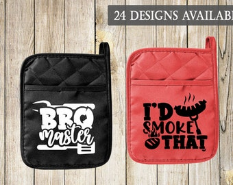 Grilling & BBQ Pot Holder Oven Mitt | Great Father's Day Gift Idea