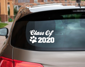 Class of 2020, Pawprint, Panthers, Graduate, Vinyl Decal for Cars, Trucks, Cups, Laptops, Coolers, etc.