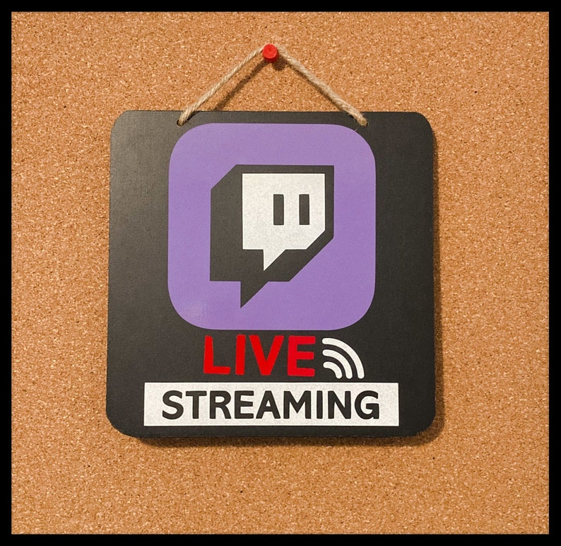 Live Streaming Reflective Door Sign  Gaming  Twitch image 1