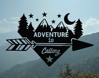 Adventure Is Calling | Vinyl Decal for Cars, Trucks, Cups, Laptops, Coolers, etc.