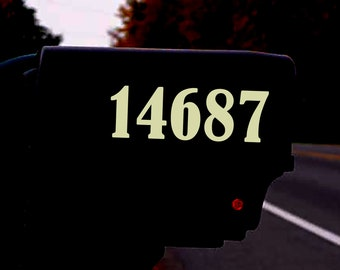 Reflective Number Decal   Mailbox, Home, Office, Storefront   Custom Address Sticker
