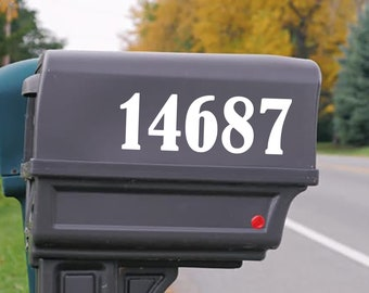 Custom Mailbox Number Decal   Custom Address Sticker   Personalized House Numbers
