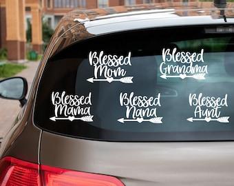 Blessed Nana, Grandma, Aunt, Mom, Mama, Vinyl Decal for Cars, Trucks, Cups, Laptops, Coolers, etc.