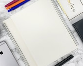 Miliko Transparent Hardcover B5(7.1 quot x10 quot ) Wirebound Notebook Set (Dot Grid)