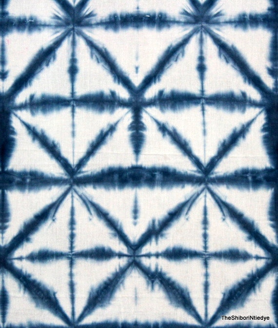 Cotton Voile Fabric Hand Tie Dye Shibori Indian Decorative Sewing Material By YD