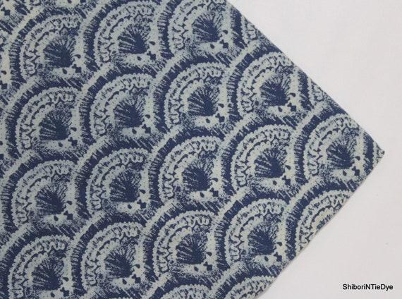Gray Floral Threshold Hand Block Dabu Printed Fabric Natural Dyes