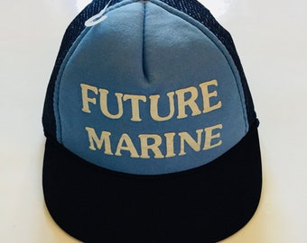 dfe493e26d4 Vintage Future Marine Dads Hat Baseball Cap Kids Children Army America USA  USMC Skull Cap