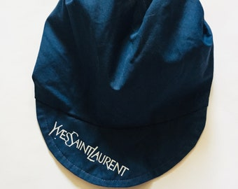 2187a6ca2c5 Yves Saint Laurent YSL Vintage Navy Blue Hat