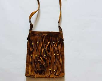 e7cc39ba8ef Native Vintage Brown Yellow Blue Beads Navajo American Purse Side Bag Tote  Pouch Messenger Bag