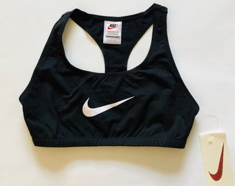 bd3d23e462f06 Vintage Nike Sports Bra Deadstock Brand New Athletic Bralette Cropped Tank  Top Yoga Work Out Top Vintage Sporty Tank Bikini Top Womens