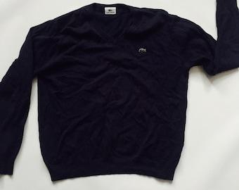 fe5f3d5cc8 Lacoste Vintage & Crewneck Sweater Shirt Black
