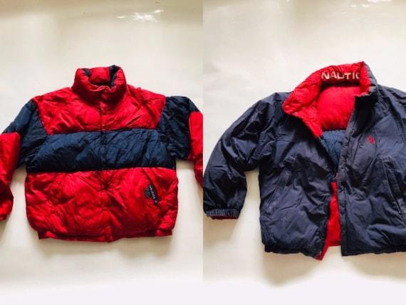 Vintage Nautica Reversible Jacket Red Blue White W