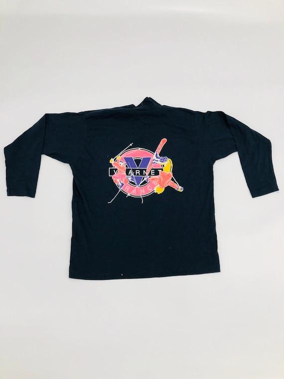 Vintage Vuarnet Big Logo Ski Long Sleeve Navy Blue