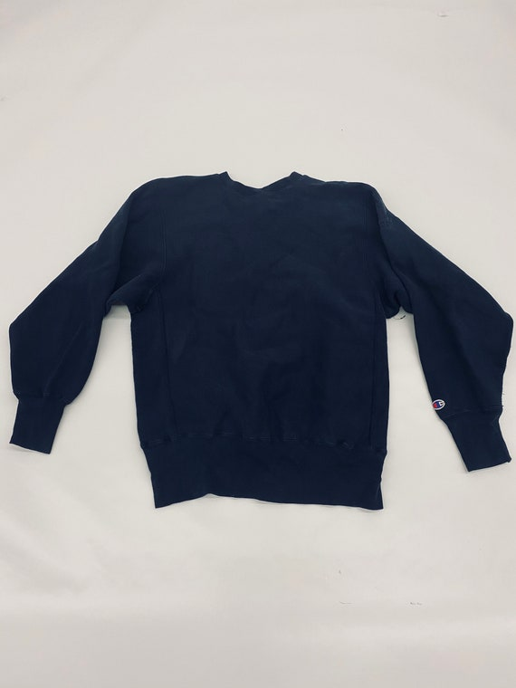 Vintage Champion Sweater Mens Navy Blue Reverse We