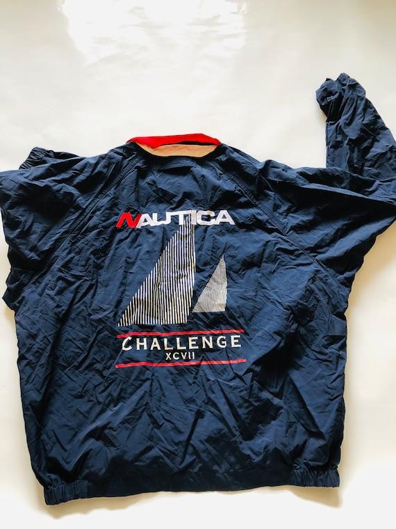 Vintage Nautica Challenge Jacket Red Blue White Wi