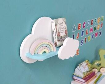 Miniature cloud shelf, dollhouse  shelves, miniature, dollhouse wall accessories, tiny furniture, Pukifee, Lati yellow, 1/8, diorama, roombo