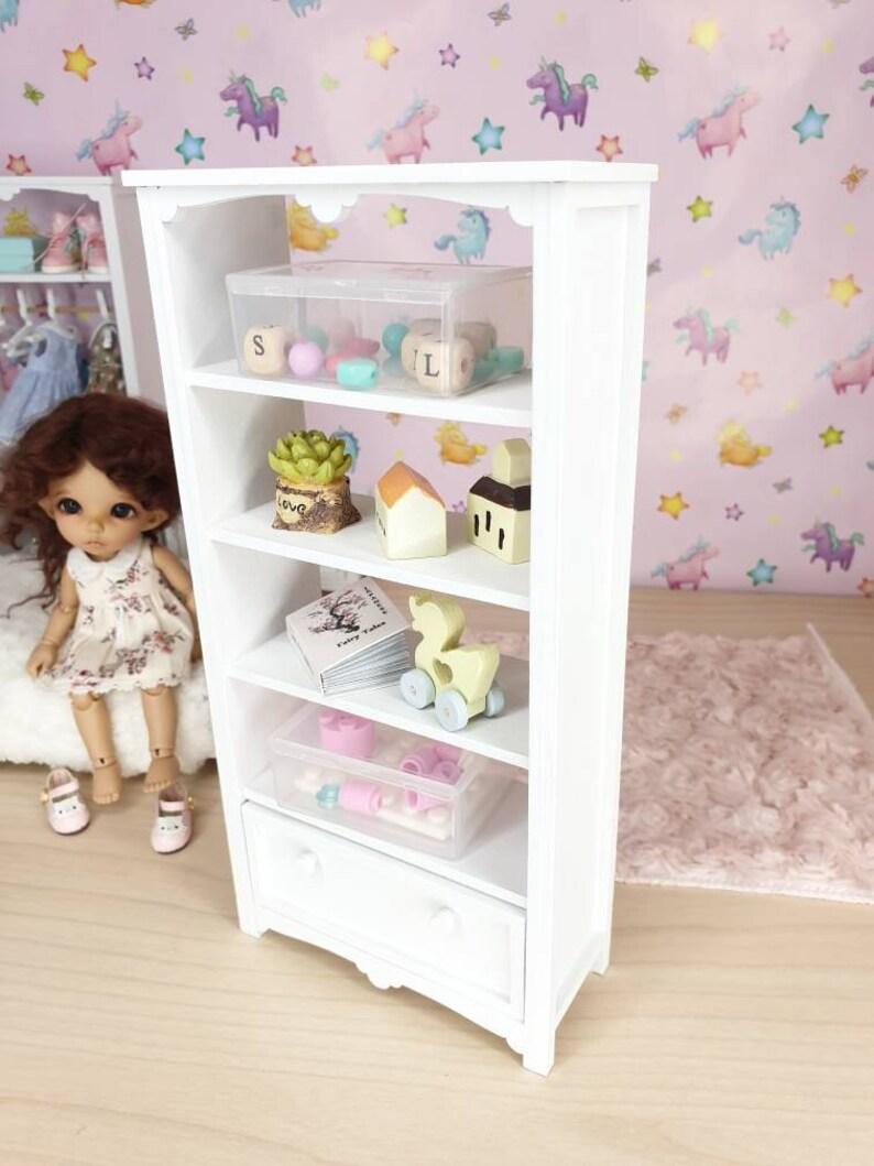 Miniature Bookcase Dollhouse Shelf Doll Furniture 1 8 Pukifee Lati Yellow Furniture For Bjd Roombox Dollhouse