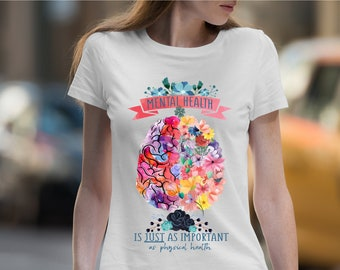 5651afbc1a4 Mental health is just as important as physical health Short-Sleeve Unisex T-Shirt  Mental Health matters