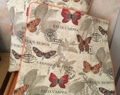 Butterfly Pillow Covers, 18 quot with center back zipper