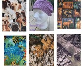 Bouffant Medical Surgical Scrub Hat Cap - Camo - Dogs - Under The Sea - Fish - Turtle - Deer - Moose - Hunting