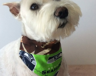 758da6e394e Seattle Seahawks Dog Bandana, Over the Collar Bandana, Pet Bandana, Dog  Lover Gift